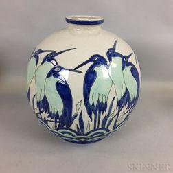 Keralouvre Penguin-decorated Ceramic Vase