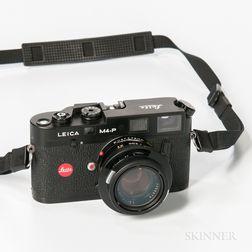 Black Leica M4-P Camera and Summicron Lens