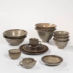 Set of Michael Cohen Stoneware Dinnerware