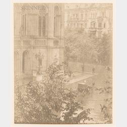 Alfred Stieglitz (American, 1864-1946)      Snapshot - from My Window, Berlin