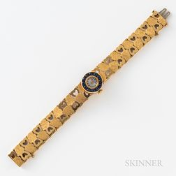 14kt Gold Lucien Piccard Wristwatch and Bracelet