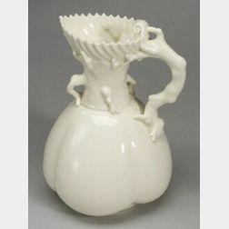 Royal Worcester Porcelain Coral Handled Jug