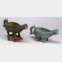 Two Bronze Vessels