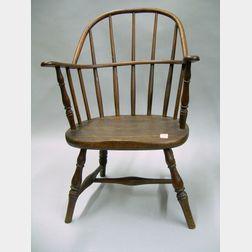 Childs Windsor Oak and Ash Sack-back Armchair.