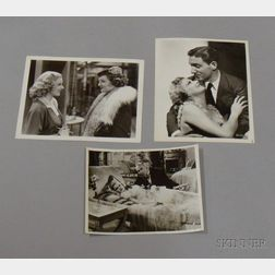 Three Jean Harlow MGM Studio Publicity Press Still Photographs