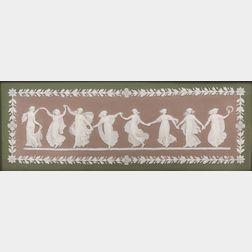 Wedgwood Tricolor Jasper Dip Dancing Hours   Plaque