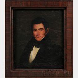 American School, 19th Century      Portraits of Hopkins Stevens and Rachael Hills Stevens of Bristol, Connecticut.