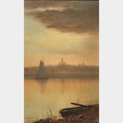Charles Henry Gifford (American, 1839-1904)      New Bedford View at Sunset
