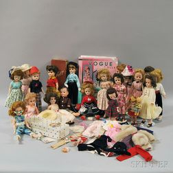 Group of Mostly Mid-20th Century Vinyl Dolls