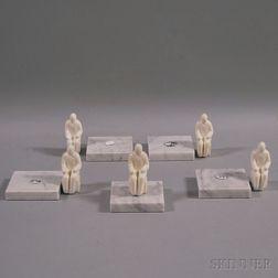 Tom Otterness (American, b. 1952)      Six Works: Sitting Man II
