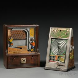 "Two Coin-operated ""Sports"" Penny Arcade Games"