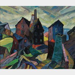Leighton R. Cram (American, 1895-1981)      Cape Ann Buildings