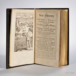 Hennepin, Louis (active 17th century) A New Discovery of a Vast Country in America, Extending above Four Thousand Miles, Between New Fr