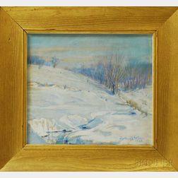 Arthur B. Wilder (American, 1857-1945)      Snowy Pasture.