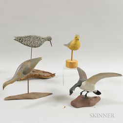Carved and Painted Wood Birds