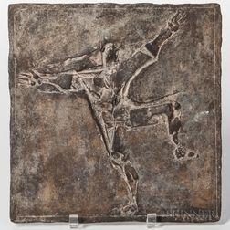 Franz Fischer (1900-1980) Abstract Bronze Relief