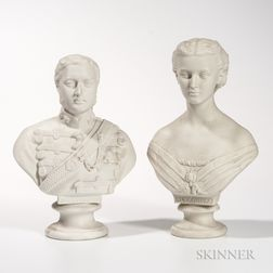 Two English Parian Busts