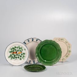 Five Early Staffordshire Plates