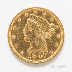 1847 $5 Liberty Head Gold Coin