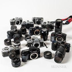Collection of 35mm Minolta Cameras and Lenses