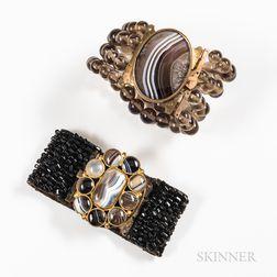 Two Agate Bracelets