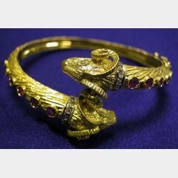 18kt Gold, Diamond, and Ruby Bracelet