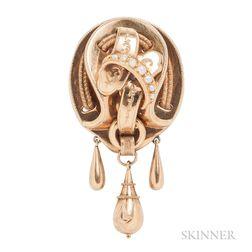 Antique 18kt Gold Brooch