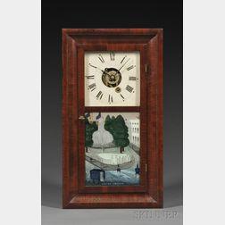 Silas B. Terry Miniature Mahogany Alarm Timepiece
