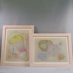 Lorenzo de los Angeles (American, 20th/21st Century)      Two Works: Polarity   (Jellyfish)