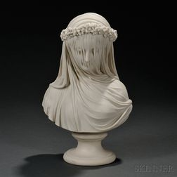 Copeland Parian Bust of the Veiled Bride