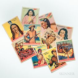 Seventy-nine Goudey 'Indian Gum' Non-sport Trading Cards