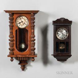 Two German Wall Clocks