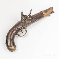 French Model An IX Flintlock Pistol