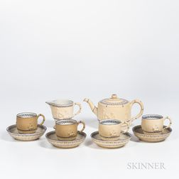Six Wedgwood Caneware Tea Wares