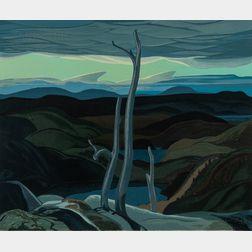 Franklin Carmichael (Canadian, 1890-1945)      Evening, North Shore, Lake Superior