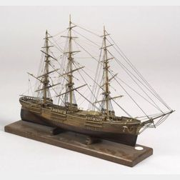 Carved Wooden Model of the Clipper Ship Young America