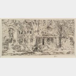 Frederick Childe Hassam (American, 1859-1935)    House on the Main Street, Easthampton