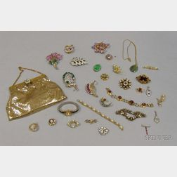 Small Group of Costume and Estate Jewelry and Assorted Accessories