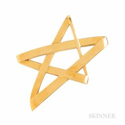 Tiffany & Co. Paloma Picasso 18kt Gold Star Pendant/Brooch