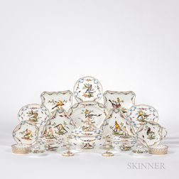 Meissen Porcelain Rothschild Bird Partial Dinner Service