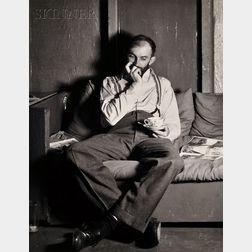 Willard Van Dyke (American, 1906-1986)      Ansel Adams at 683 Brockhurst, c. 1932.