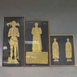 Three British Monumental Brass Rubbings