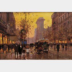 Edouard Leon Cortès (French, 1882-1969)        Porte Saint Denis