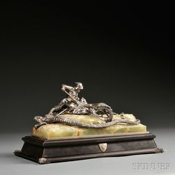 Austro-Hungarian .800 Silver Figural Inkwell