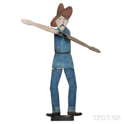 Folk Art Cowboy-form Scarecrow