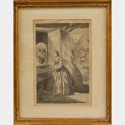 Framed Winslow Homer Engraving from Harper's Weekly  .