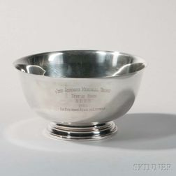 International Paul Revere Reproduction Sterling Silver Trophy Bowl