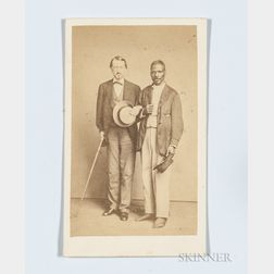 Carte-de-visite Depicting a White Man and an African American Man