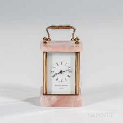 Miniature Pink Quartz Carriage Clock