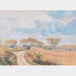 Arthur Clifton Goodwin (American, 1866-1929)    Farm Road